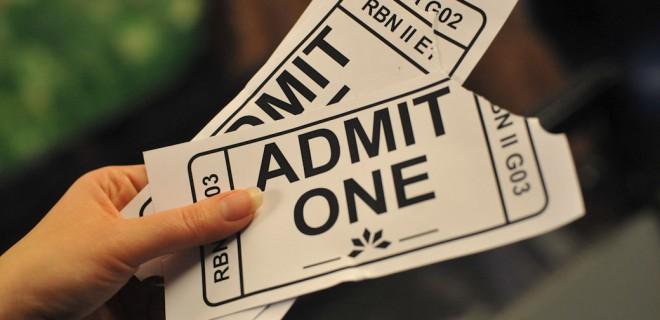 oversized cinema tickets