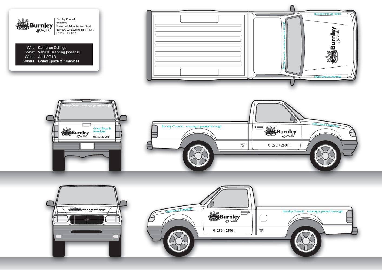 burnley council corporate vehicle branding creative council